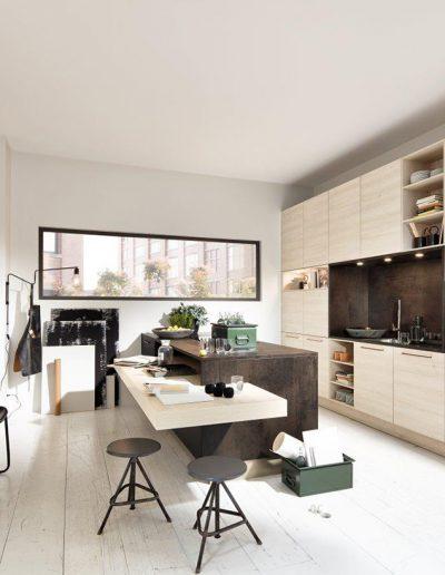 cocina con barra integrada