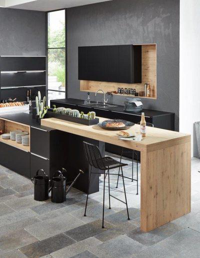 cocina madera negro