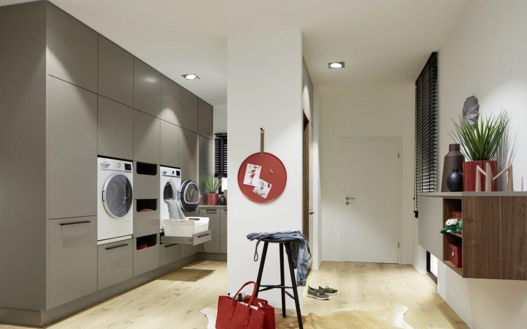 Cuarto de lavado, despensa y hasta office
